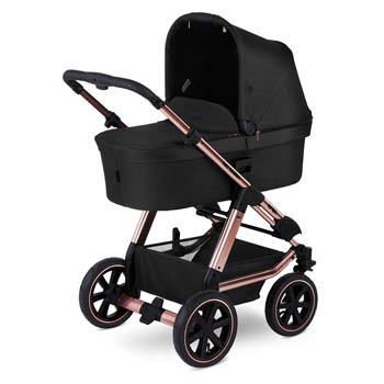 ABC Design Viper 4 Kombivogn (Diamond Edition), sort/rosa guld