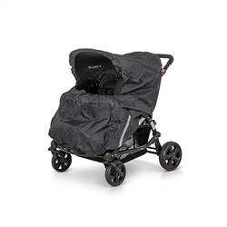 Regnslag, Twin Buggy, Sort